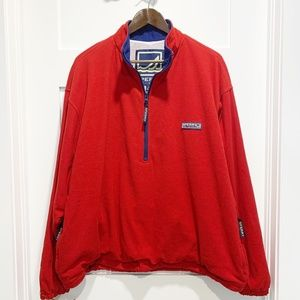 Sperry Top Sider Red 1/4 Zip SweatsHirt Sweater